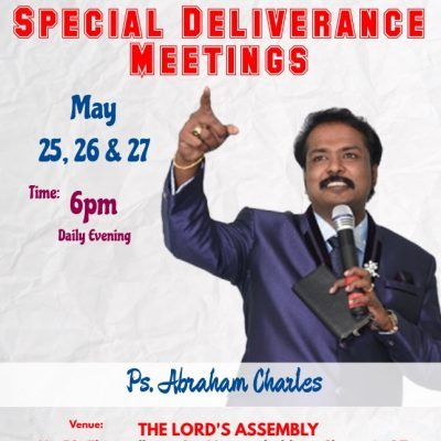 Special Deliverance Meetings 2018 - India